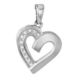 trendor 63874 Silber-Anhänger Herz
