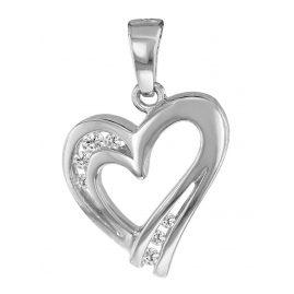 trendor 63881 Herz-Anhänger Silber