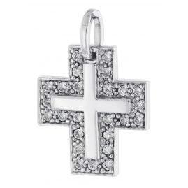 trendor 64437 Silber Kreuz-Anhänger