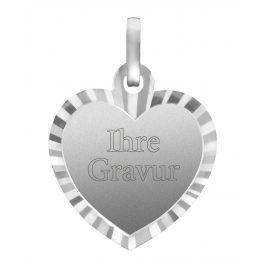 trendor 87264 Silber Herz-Anhänger Gravurplatte