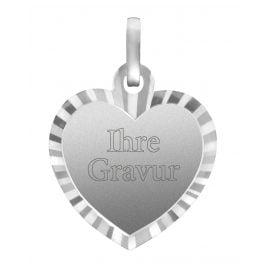 trendor 87264 Silver Heart Pendant Engraving Plate