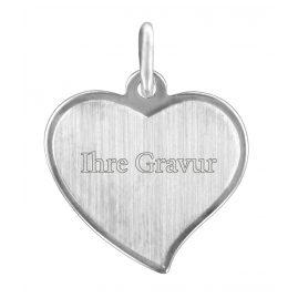 trendor 87288 Silver Engraving Plate Heart Pendant