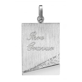 trendor 87301 Silver Pendant Engraving Plate