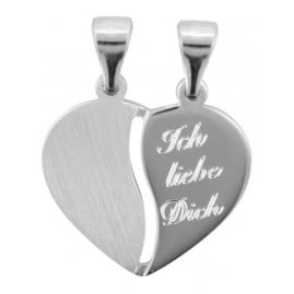 trendor 70050 Silberanhänger Teilbares Herz