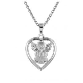trendor 78629 Kids Silver Necklace Guardian Angel Pendant