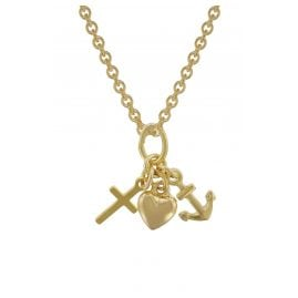 trendor 35732 Kids Gold Pendant Faith, Love, Hope