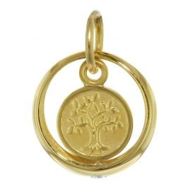 trendor 08275 Gold Christening Ring with Lifetree
