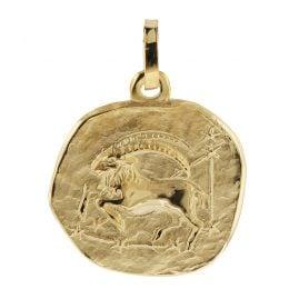 trendor 08725 Sternzeichen-Anhänger Steinbock 333 Gold 16 mm