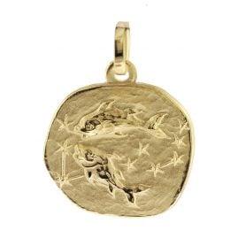 trendor 08727 Sternzeichen-Anhänger Fische 333 Gold 16 mm