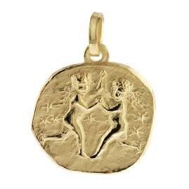 trendor 08730 Sternzeichen-Anhänger Zwilling 333 Gold 16 mm