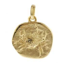 trendor 08731 Sternzeichen-Anhänger Krebs 333 Gold 16 mm