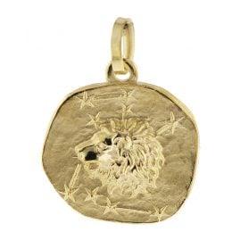 trendor 08732 Sternzeichen-Anhänger Löwe 333 Gold 16 mm