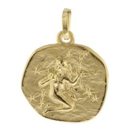 trendor 08733 Sternzeichen-Anhänger Jungfrau 333 Gold 16 mm