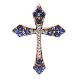 trendor 08836 Anhänger Kreuz Roségold 585 Zirkonia