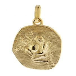 trendor 08959 Zodiac Pendant Aquarius Gold 585/14 ct
