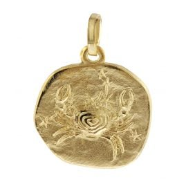 trendor 08964 Zodiac Pendant Cancer Gold 585/14 ct
