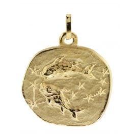 trendor 08984 Sternzeichen-Anhänger Fische 333 Gold 20 mm