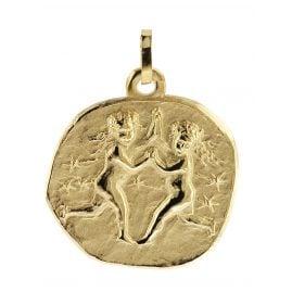 trendor 08987 Sternzeichen-Anhänger Zwillinge 333 Gold 20 mm