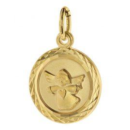 trendor 75106 Kinder-Anhänger Engel 333 Gold/8 Karat 12 mm