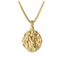trendor 75318 Christophorus Pendant Gold 333 (8 ct.) with Gold Plated Chain
