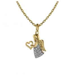 trendor 75470 Necklace with Angel Pendant Gold 585 / 14K