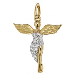 trendor 75475 Pendant Guardian Angel with Diamonds Gold 585 /14 K