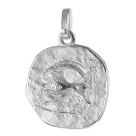 trendor 75932-01 Zodiac Sign Capricorn White Gold 333 Pendant Ø 16 mm