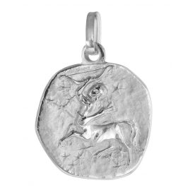 trendor 75932-12 Zodiac Sign Sagittarius White Gold 333 Pendant Ø 16 mm