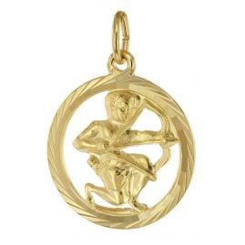 trendor 39000-12 Zodiac Sign Sagittarius 333 Gold Pendant Ø 16 mm