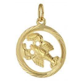 trendor 39000-07 Sternzeichen Krebs 333 Gold Anhänger Ø 16 mm