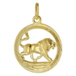 trendor 39000-08 Zodiac Sign Leo 333 Gold Pendant Ø 16 mm