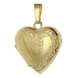 trendor 39572 Medaillon Anhänger Herz Gold 333 / 8 Karat