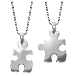 trendor 63775 Puzzle Partner Pendant with two Chains Silver 925