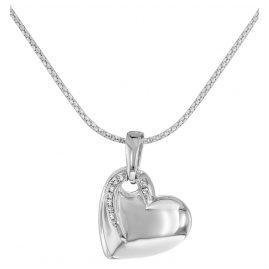 trendor 66301 Silber Herz Anhänger mit Kette