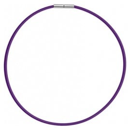 trendor 81736 Rubber Necklace Purple