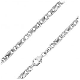 trendor 86151 Gents Necklace 925 Silver Dollar Chain Width 5.0 mm