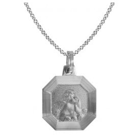 trendor 87547 Silver Necklace with Cupid Pendant