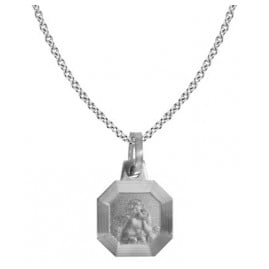 trendor 87530 Silver Necklace with Cupid Pendant