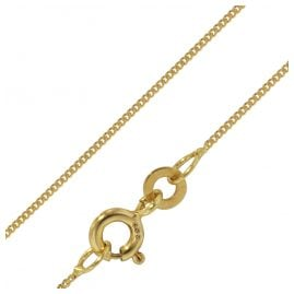 trendor 72436 Women's Necklace 333 8K Gold Flat Curb Chain 0.8 mm Width