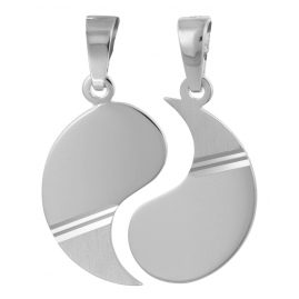 trendor 79626 Partner-Anhänger mit 2 Schlaufen Silber 925