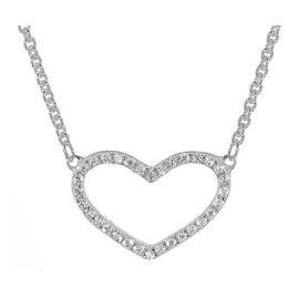 trendor 08028 Silver Necklace with Zirconia Heart