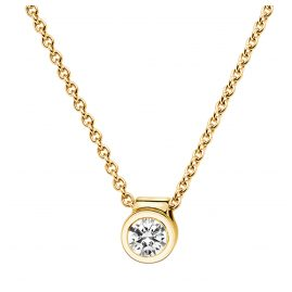 trendor 532524 Brilliant Pendant 0,20 With Necklace Gold 585/14K