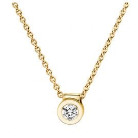 trendor 532522 Brillant Collier 0,10 ct Gelbgold 585