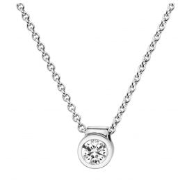 trendor 532520 Diamond Pendant 0,20 with Necklace White Gold 585/14K