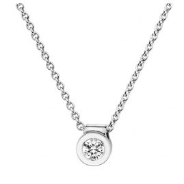 trendor 532519 Diamant-Anhänger 0,15 mit Halskette Weißgold 585/14K