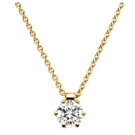 trendor 532530 Diamond 0,10 Ct Pendant And Necklace Gold 585/14K