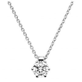 trendor 532528 Brilliant 0,20 ct And Necklace White Gold 585/14K