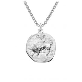 trendor 08445 Silver Zodiac Taurus with Necklace