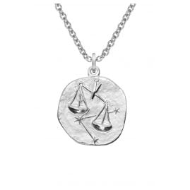 trendor 08450 Silver Zodiac Libra with Necklace