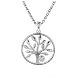 trendor 08818 Pendant Tree of Life with Necklace Silver 925